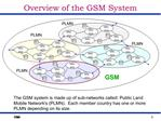 Overview of the GSM System