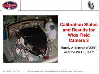 Calibration Status and Results for Wide Field Camera 3
