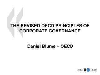 THE REVISED OECD PRINCIPLES OF CORPORATE GOVERNANCE