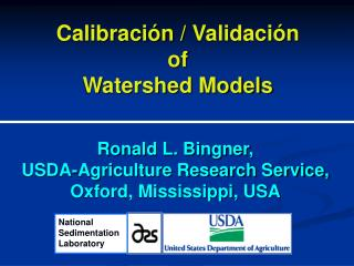 Calibración  /  Validación of  Watershed Models
