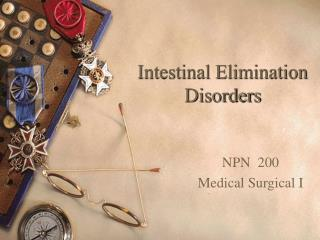 Intestinal Elimination Disorders