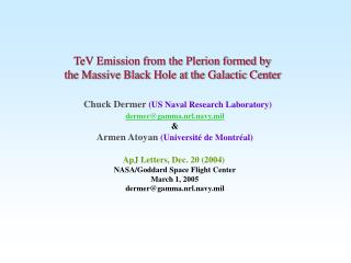 TeV Emission from the Plerion formed by the Massive Black Hole at the Galactic Center
