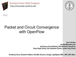 Packet and Circuit Convergence with OpenFlow