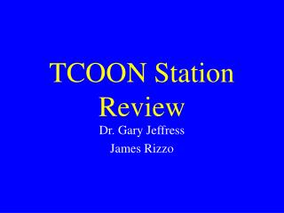 TCOON Station Review