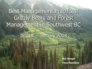 Best Management Practices:  Grizzly Bears and Forest Management in Southwest BC