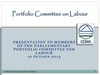 Portfolio Committee on Labour