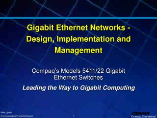 Gigabit Ethernet Networks - Design, Implementation and Management