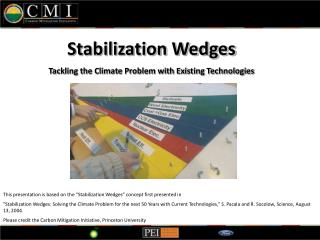 Stabilization Wedges  Tackling the Climate Problem with Existing Technologies