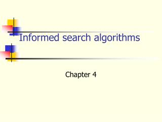 Informed search algorithms