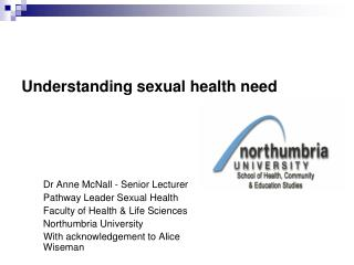 Understanding sexual health need