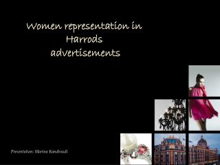 Women representation in Harrods  advertisements
