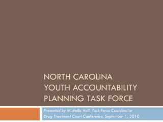 North Carolina  Youth  Accountability Planning Task Force