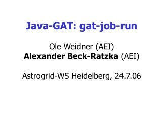 Java-GAT: gat-job-run
