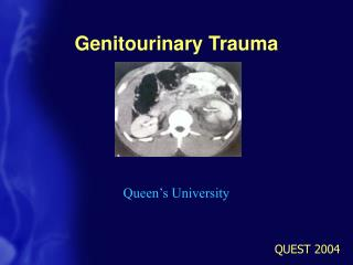 Genitourinary Trauma