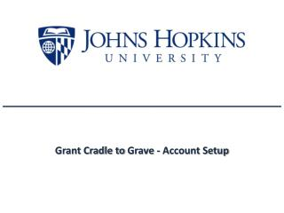 Grant Cradle to  Grave  - Account Setup