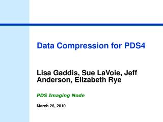 Data Compression for PDS4