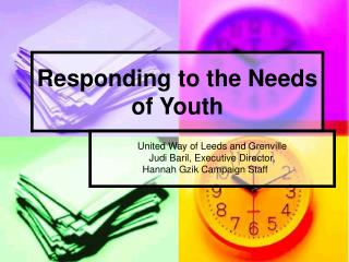 Responding to the Needs of Youth