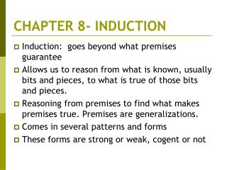 CHAPTER 8- INDUCTION