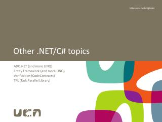 Other .NET/C# topics