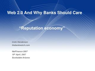 Web 2.0 And Why Banks Should Care