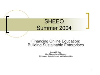 SHEEO Summer 2004