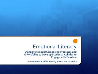 Emotional Literacy