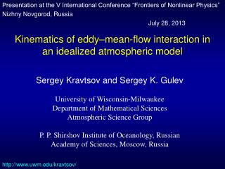 Kinematics of eddy–mean-flow interaction in an idealized atmospheric model