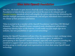 Gluu Joins OpenID Foundation