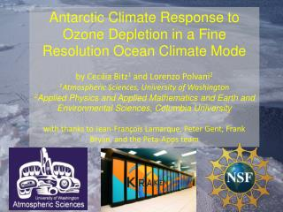 Antarctic Climate Response to Ozone Depletion in a Fine Resolution Ocean Climate Mode