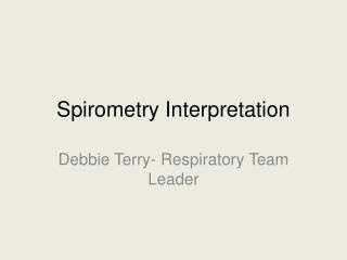Spirometry Interpretation