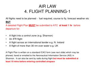 AIR LAW 4. FLIGHT PLANNING-1