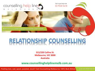 Counselling Help Line Melbourne - Relationship Counselling