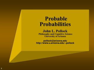 The Epistemology of   Probability