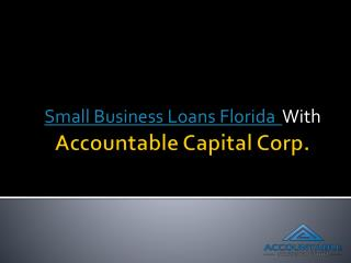 Small Business Loans Florida