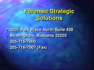 Forensic Strategic Solutions