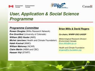 User, Application & Social Science Programme