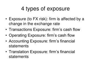 4 types of exposure