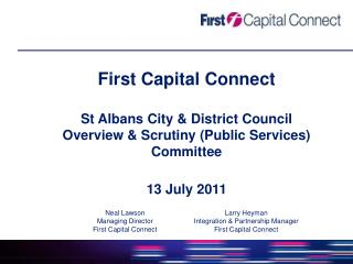 First Capital Connect St Albans City & District Council