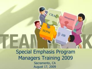 Special Emphasis Program Managers Training 2009