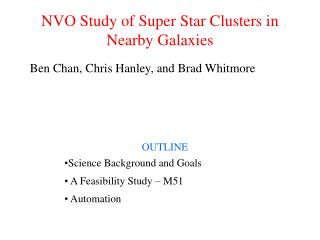 NVO Study of Super Star Clusters in Nearby Galaxies
