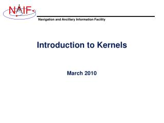 Introduction to Kernels
