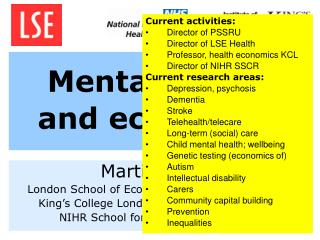 Mental health and economics