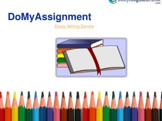 Essay writing services-Domyassignment