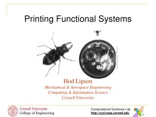 Printing Functional Systems