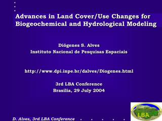 Advances in Land Cover/Use Changes for Biogeochemical and Hydrological Modeling