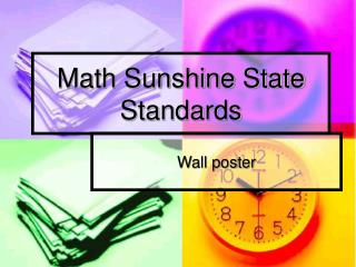 Math Sunshine State Standards