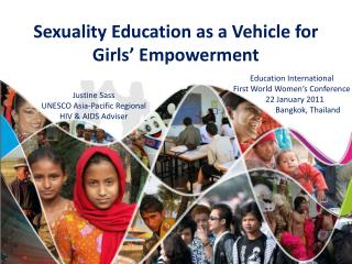 Sexuality Education as a Vehicle for  Girls' Empowerment