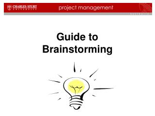 Guide to Brainstorming