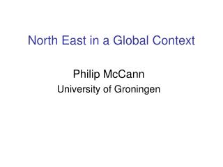 North East in a Global Context