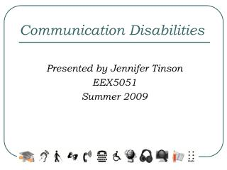 Communication Disabilities